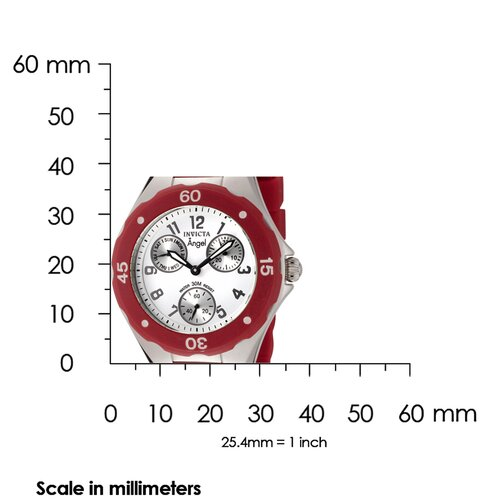 Invicta Women's Angel Watch in White Dial Red Silicone