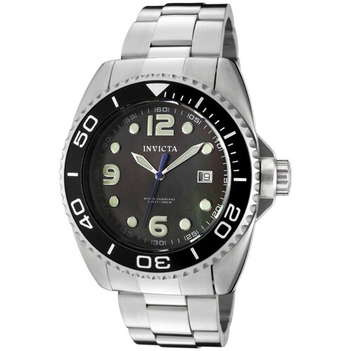 Men's Pro Diver Black Mother of Pearl Dial Watch