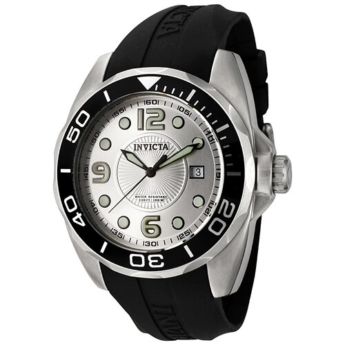 Invicta Men's Pro Diver Polyurethane Round Watch