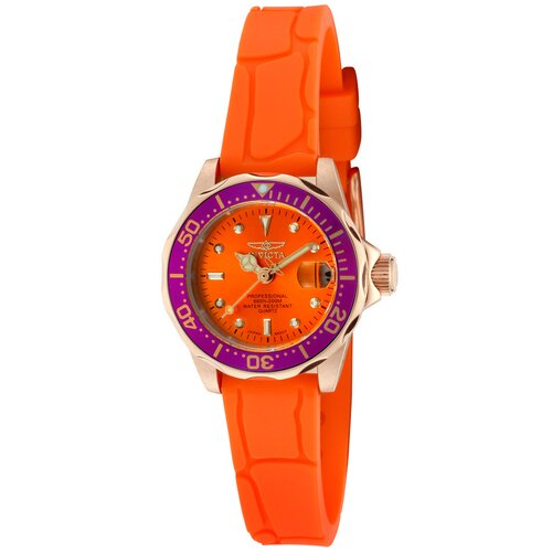 Invicta Women's Pro Diver Polyurethane Round Watch