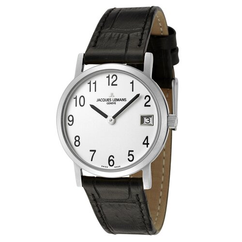Jacques Lemans Women's Genève / Baca White Dial Watch in Black