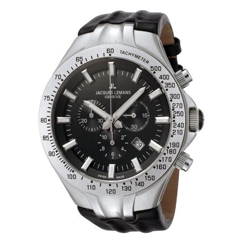Men's Genève / Tornado Timer Chronograph Watch in Black
