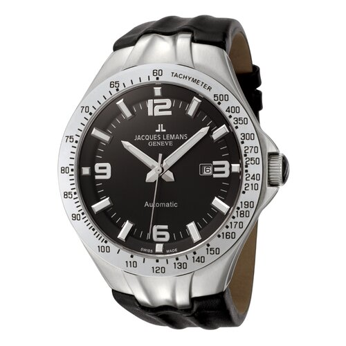 Men's Genève / Tornado Timer Automatic Watch in Black