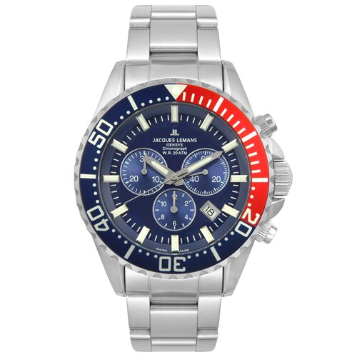 Jacques Lemans Men's Geneva Blue Dial Watch in Chronograph