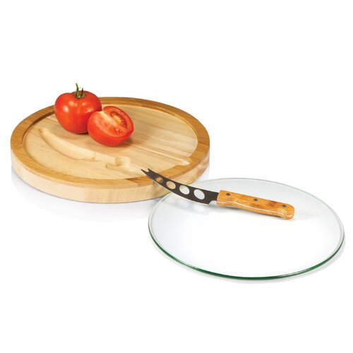Picnic Time Iris Cutting Board with Knife