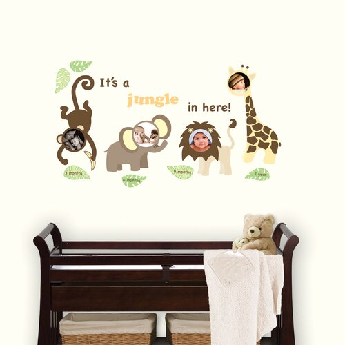 Art Kit Jungle and Friends Photo Frame Wall Decal