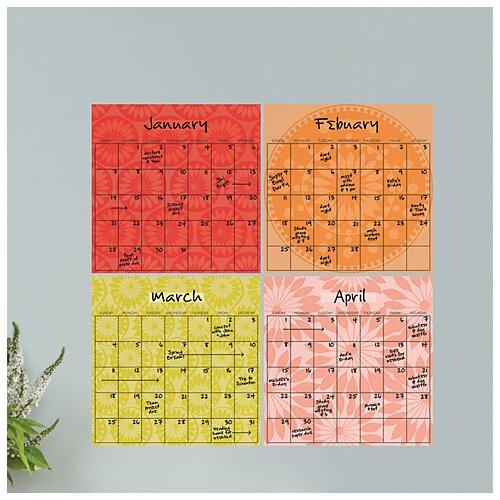 Dry-Erase 4 Piece Carnivalé Calendar Wall Decal