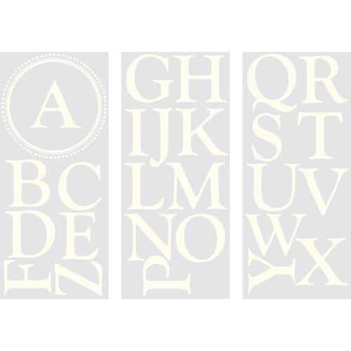 WallPops! Sheets Durham Monogram and Alphabet Wall Decal