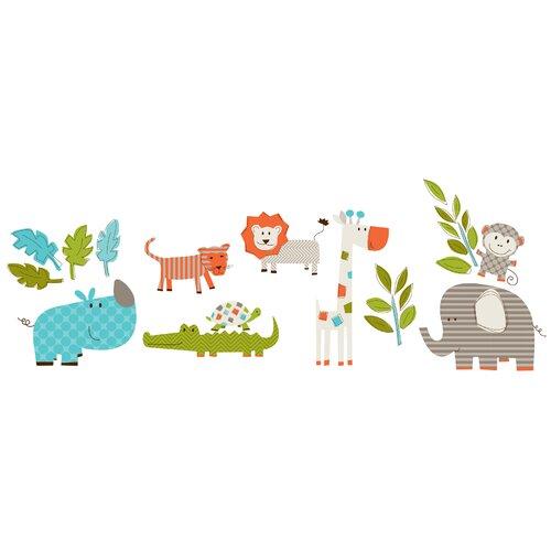 WallPops! Art Kit Lets Go On Safari Wall Decal