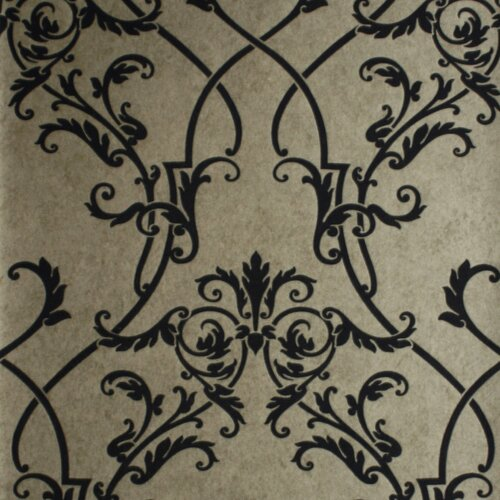Brewster Home Fashions Savoy Nouveau Damask Wallpaper
