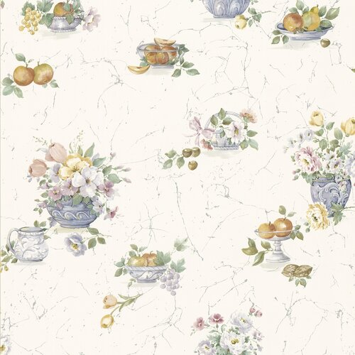 Brewster Home Fashions Kitchen and Bath Resource II Fruit and Floral Wallpaper