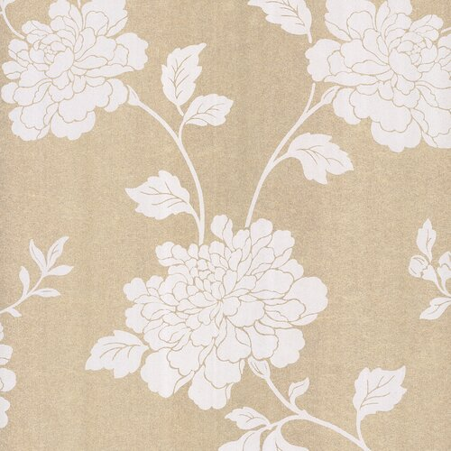Brewster Home Fashions Salon Open Floral Trail Foiled Wallpaper