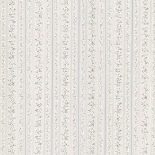 Brewster Home Fashions Kitchen and Bath Resource II Floral Stripe Wallpaper