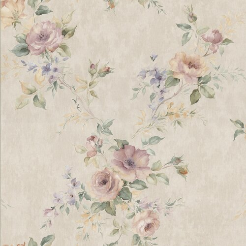 Brewster Home Fashions Kitchen and Bath Resource II Floral Trail Embossed Wallpaper
