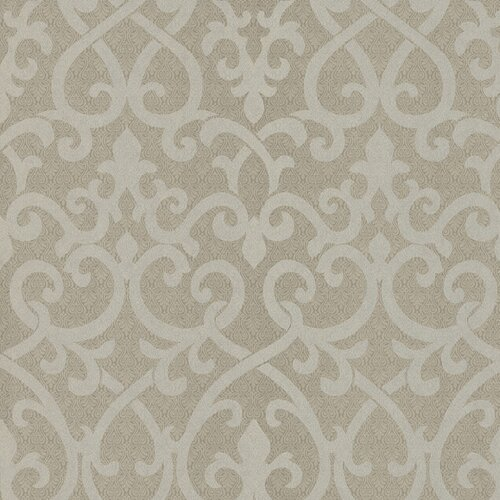Brewster Home Fashions Serene Ironwork Damask Wallpaper