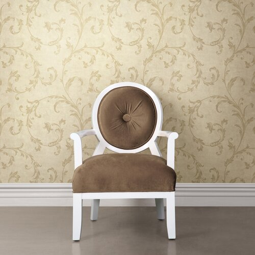 Brewster Home Fashions Buckingham Milton Shimmer Scroll Wallpaper