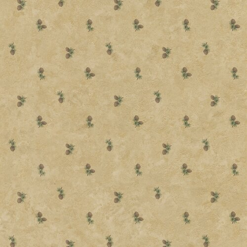 Brewster Home Fashions Northwoods Pinecone Print Wallpaper