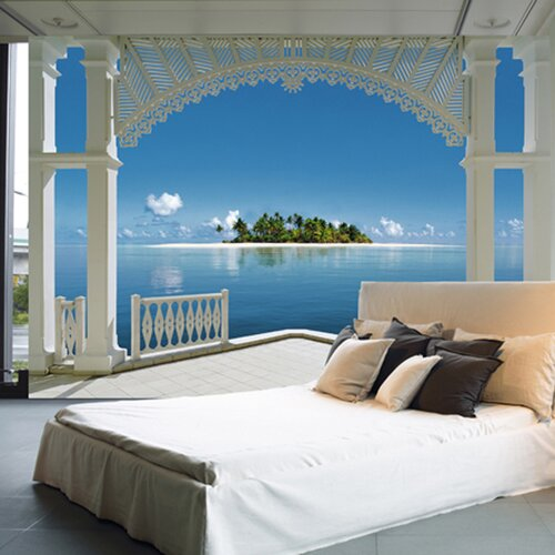 Brewster home fashions ideal decor a perfect day wall for Brewster wall mural