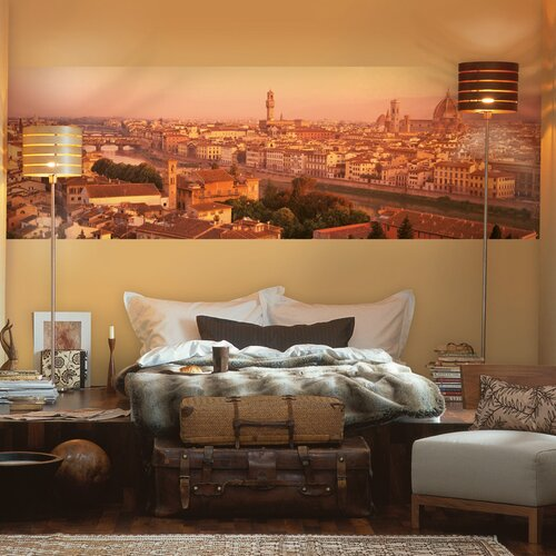 Komar florence 4 panel wall mural wayfair for Brewster home fashions wall mural