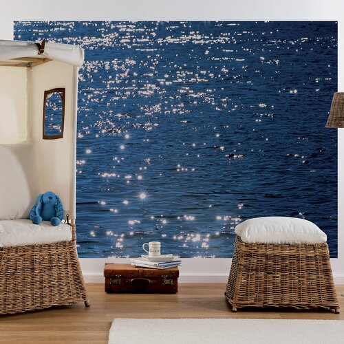 Brewster Home Fashions Komar Stelle di Mare 4-Panel Wall Mural