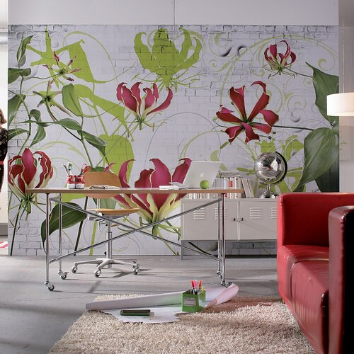 Brewster home fashions komar gloriosa 8 panel wall mural for Brewster birch wall mural