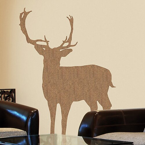 Euro Deer Cork Wall Decal