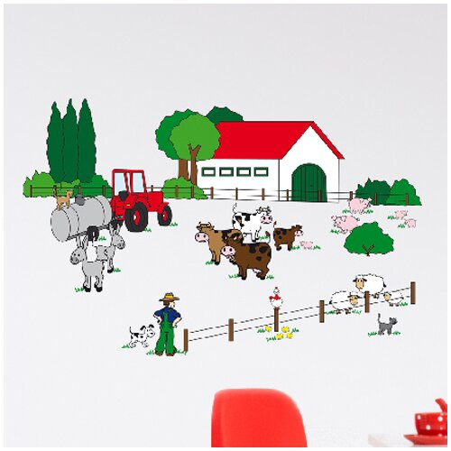 Brewster Home Fashions Euro The Farm Wall Decal