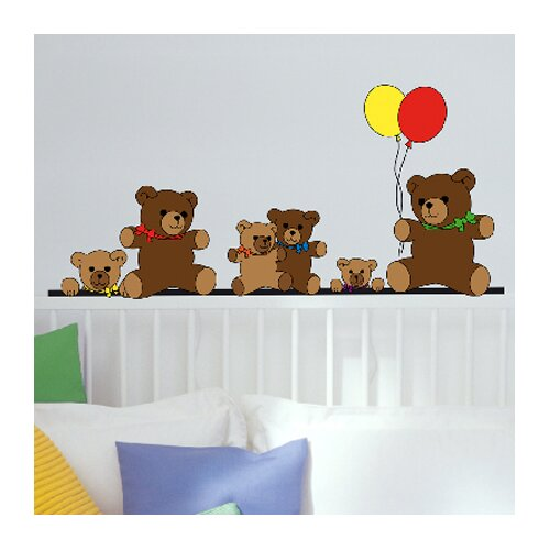 Euro Teddy Bears Wall Decal
