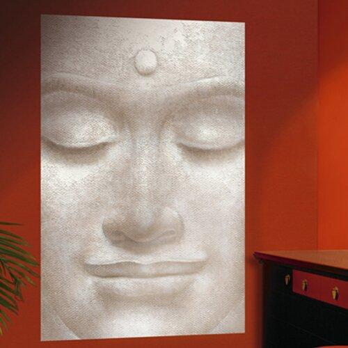Ideal Decor Smiling Buddha Wall Mural