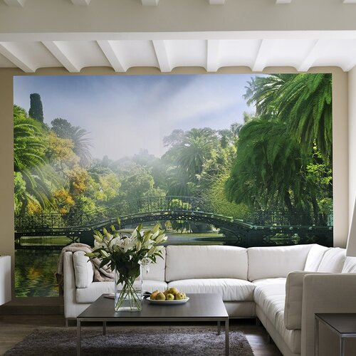 Ideal Decor Bridge in Sunlight Wall Mural