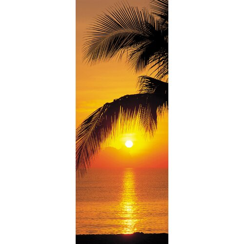 Brewster Home Fashions Komar Palmy Beach Sunrise 2-Panel Wall Mural