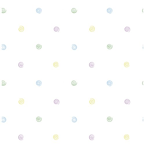 Brewster Home Fashions Kidding Around Swirl Polka Dot Wallpaper