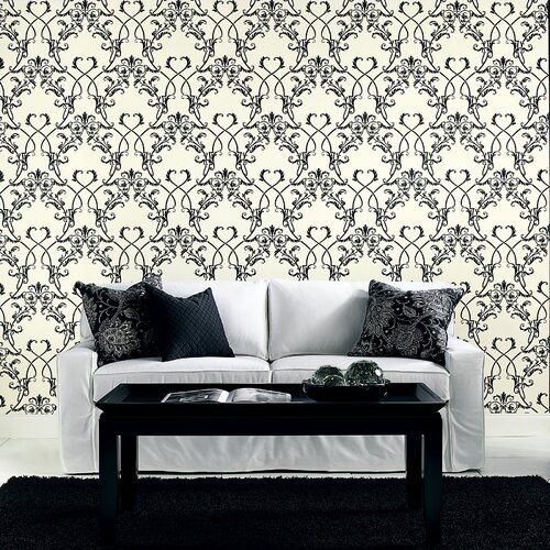Brewster Home Fashions Ink Chandelier Wallpaper