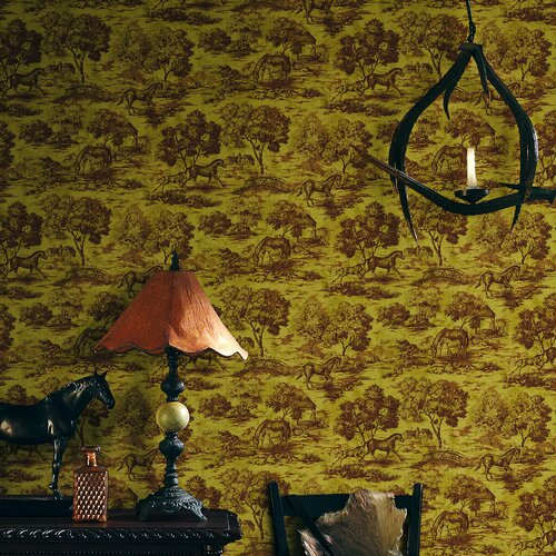Brewster Home Fashions Northwoods Maxwell Toile Wallpaper