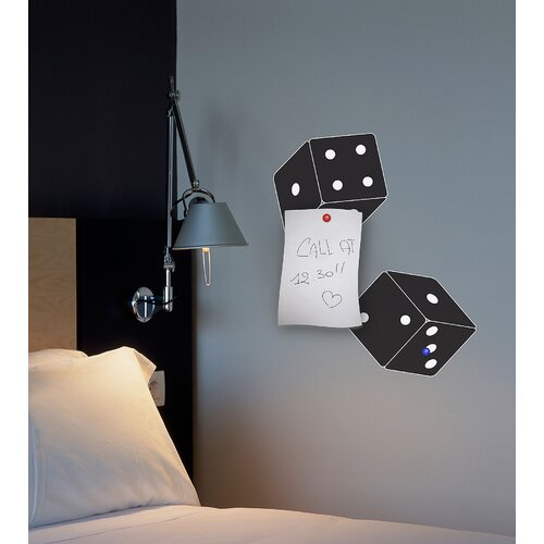 Brewster Home Fashions Euro Magnetic 2 Piece Dices Self-Adhesive Wall Decal Set