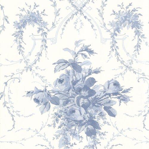 Brewster Home Fashions La Belle Maison Verdant Floral Bouquet Wallpaper