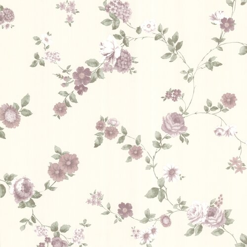 Brewster Home Fashions La Belle Maiso Rosetta Floral Trail Wallpaper