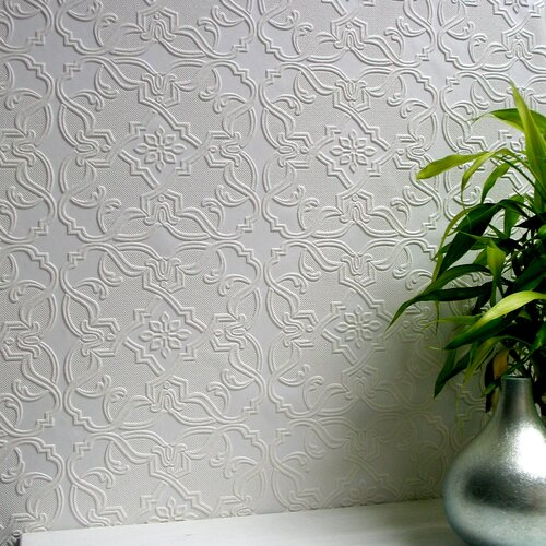 Brewster Home Fashions Anaglypta Paintable Maxwell Embossed Wallpaper