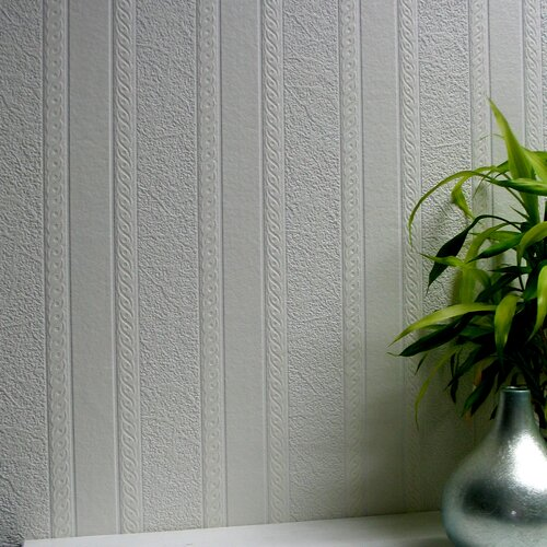 Brewster Home Fashions Anaglypta Paintable Blarney Marble Stripe Embossed Wallpaper