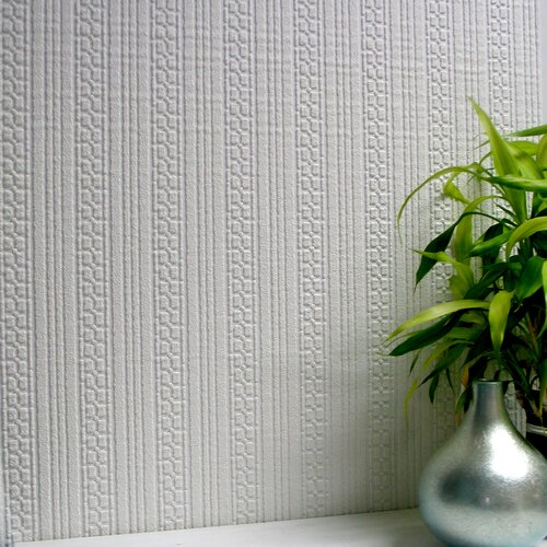Brewster Home Fashions Anaglypta Paintable Westcott Stripe Embossed Wallpaper