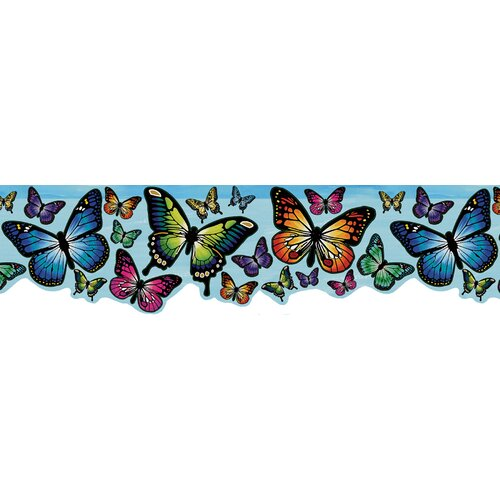 Brewster Home Fashions Kids World Magic Butterfly Wallpaper Border