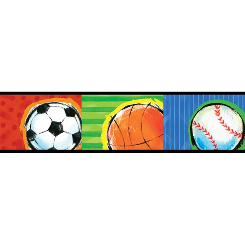 Brewster Home Fashions Kids World All Star Sports Wallpaper Border