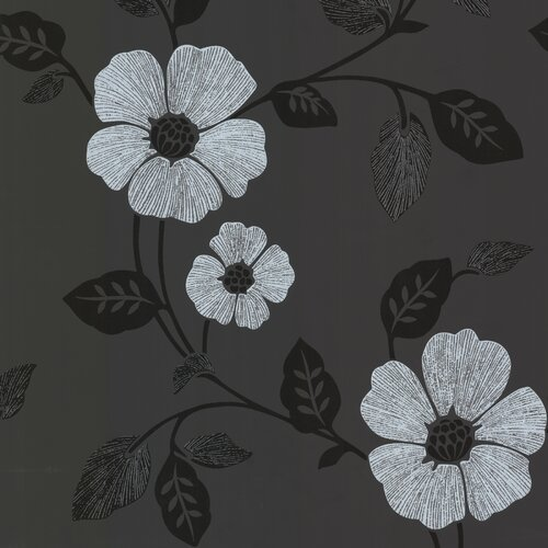 Brewster Home Fashions Zinc Zync Modern Floral Wallpaper