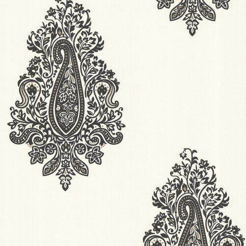 Brewster Home Fashions Zinc Dynasty Damask / Paisley Wallpaper