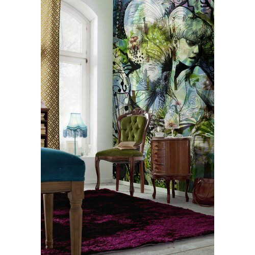 Brewster home fashions komar aphrodites garden wall mural for Brewster wall mural