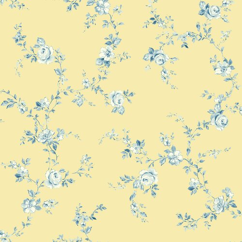 Brewster Home Fashions Springtime Cottage Tonal Floral Trail Wallpaper