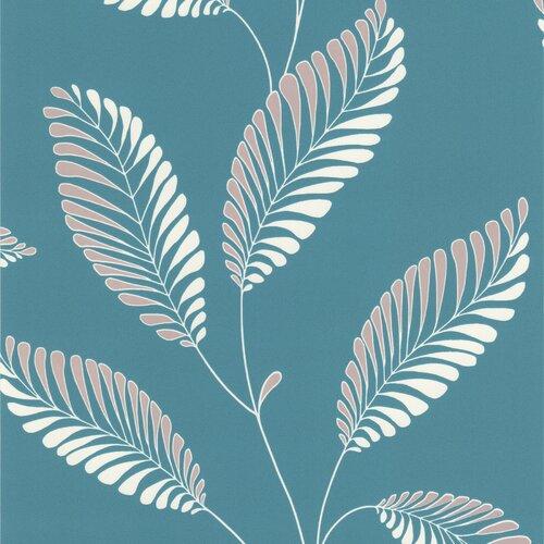 Brewster Home Fashions Accents Aubrey Modern Leaf Trail Floral Wallpaper