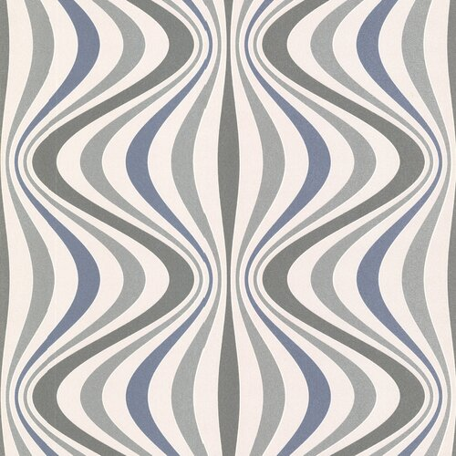 Brewster Home Fashions Geo Hendrix Gravure Ogee Abstract Wallpaper