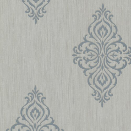 Brewster Home Fashions Buckingham Powell Medallion Damask Wallpaper