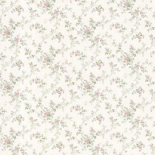 Brewster Home Fashions Dollhouse Janine Climbing Floral Botanical Wallpaper
